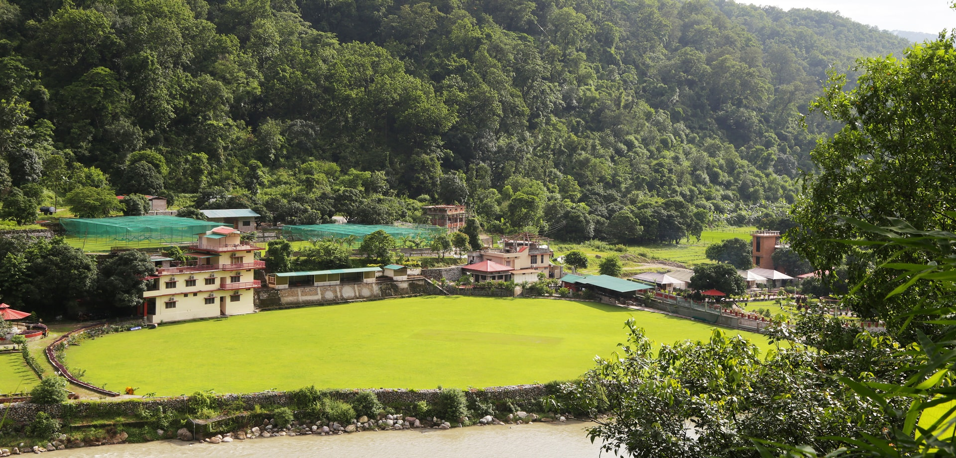 Cricket ground in corbett